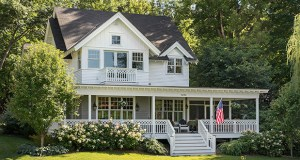 With its crisp white siding, deep porches and one-of-a-kind porch railings, the house on Lakeview Avenue is a perfect fit for the Cottagewood neighborhood. (Submitted photo)