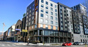 The Elliot Park Hotel opened in September on the Kraus-Anderson headquarters block in downtown Minneapolis. (Photo: Craig Lassig/Special to Finance & Commerce)