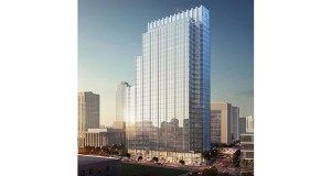 United Properties is bringing a new version of its Gateway tower at 30 S. Third St. before the Minneapolis Planning Commission on Tuesday. The project will once again include condominium units and a five-star hotel in addition to office space for RBC Wealth Management and others. (Submitted image: Smallwood, Reynolds, Stewart & Stewart Inc.)