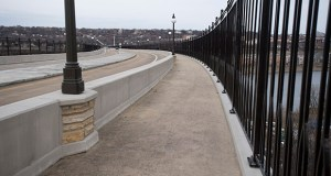 This newly re-decked crossing, known as the Smith Avenue High Bridge, reopened to traffic last Wednesday after a 14-month project. The bridge carries Smith Avenue over the Mississippi River in downtown St. Paul to the city's west side. (Photo: Craig Lassig/Special to Finance & Commerce)