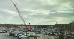 Construction of Life Time's corporate office expansion has been underway for a month on a portion of what was a parking lot at the company's Chanhassen headquarters. (Submitted photo: Life Time)