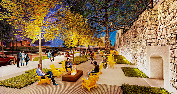 The Water Works, a plan to expand and add amenities at Mill Ruins Park in Minneapolis, is within $600,000 of the needed capital fundraising after a $1 million grant by Bank of America to the Minneapolis Parks Foundation. (Submitted image: Minneapolis Parks Foundation)