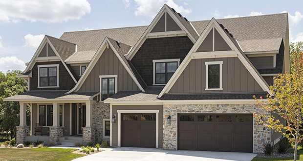 Golden Valley-based Gonyea Homes & Remodeling chose a lodge-inspired design and rich chocolate tones for its five-bedroom, five-bath, 5,829-square-foot model home at 5900 Club Valley Road, which has sold for $1.4 million. (Submitted photo: Gonyea Homes & Remodeling)