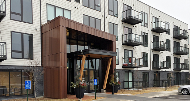 The Loden SV apartments at 1005 Gramsie Road in Shoreview is the first phase of an apartment complex that will eventually have 412 units.  (Staff photo: Matt M. Johnson)