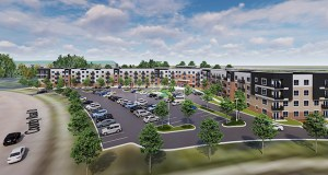 INH Properties is leading a partnership to build 152 market-rate apartments at 2988 Country View Drive in Maplewood. The company closed on the site last week for $2.13 million. (Submitted image: HMA Architects)