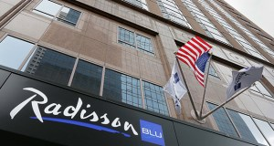 The Radisson Blu at 35 Seventh St. S. in Minneapolis sold for $75 million in May. (File photo: Bill Klotz)