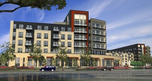 Florida-based DLC Residential and Utah-based Dakota Pacific will break ground in the next three months on the first of two apartment buildings totaling 393 units on the northwest corner of West 66th Street and York Avenue in Edina. (Submitted illustration: ESG Architects)
