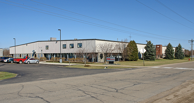 An entity related to Aurora Pharmaceutical and Veterinary Supply has acquired this 55,000-square-foot industrial building at 1700 Cannon Road, about a mile south of their headquarters in Northfield. (Submitted photo: CoStar)