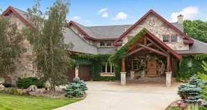 This lodge-inspired Lake Bavaria home at 3607 Lerive Way in Chaska sold in December for $2.1 million, making it the top home sale in Carver County in 2018. (Submitted photo: Spacecrafting)