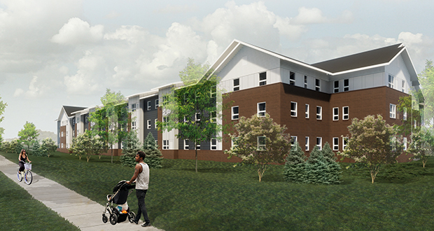 Minnesota Housing Finance Agency commissioner Jennifer Ho is touting Gov. Tim Walz's spending plans for housing. Last fall, Minnesota Housing announced more than $80 million for investments such as this 60-unit CommonBond Communities affordable housing project in Shakopee.  (Submitted rendering: CommonBond)