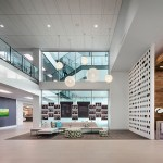 Prime's two-story lobby includes turn-styles that scan employee IDs as they enter the building. (Submitted photo: Prime Therapeutics)