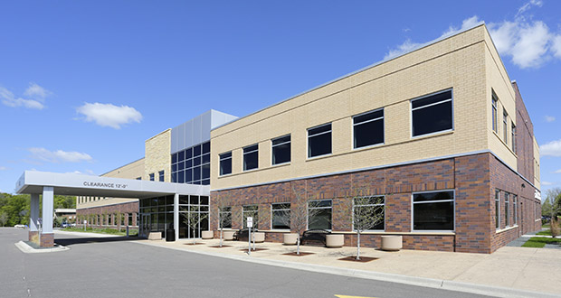 The Plymouth City Center Medical Building at 15655 37th Ave. N. in Plymouth is about three-quarters full, with a North Memorial clinic and several surgical groups taking up office space. (Submitted photo: CoStar)