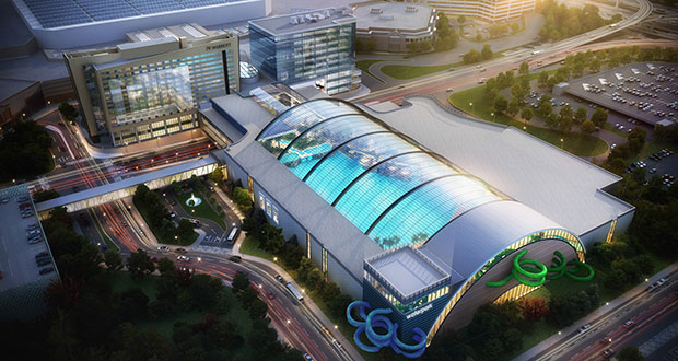 The city of Bloomington has agreed to pay $7.5 million toward design costs for this proposed water park at the Mall of America. But a lot of work remains before construction. (Submitted rendering: DLR Group)