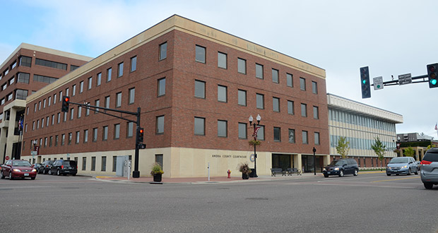 The biggest of the four projects cited in RTL Construction's lawsuit was a remodel of the Anoka County Courthouse. (Photo: Anoka County)