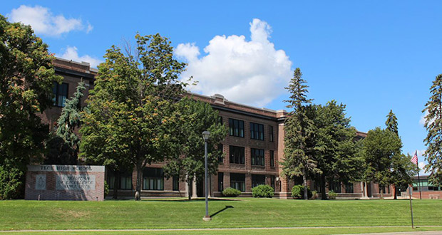 St. Cloud's 102-year-old Technical High School would form the core of a 300-unit affordable housing development in a plan being considered by Plymouth-based Dominium. The company was the sole respondent in January to an RFQ posted by the city. (Submitted photo: City of St. Cloud)
