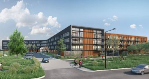 Stoneleigh Cos.' Waterford Bay apartments would add 250 mostly studio and smaller one-bedroom apartments at 380 Randolph Ave. in St. Paul. (Submitted image: BKV Group)