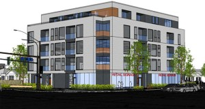 An apartment project just starting construction at 4561 Minnehaha Ave. in Minneapolis will be the Ackerberg Group's first ground-up apartment development project since finishing The Finn in St. Paul in 2017. (Submitted illustration: Collage Architects)