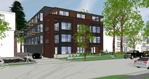 A 42-unit apartment building planned for 4418 and 4422 Beard Ave. S. in Minneapolis' Linden Hills neighborhood is the latest new apartment project targeting the lakeside community. (Submitted photo: Collage Architects)