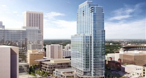 United Properties' RBC Gateway tower planned for at 30 S. Third St. in downtown Minneapolis will rise on a site the company just purchased for $10.4 million. (Submitted illustration: Smallwood, Reynolds, Stewart & Stewart Inc.)