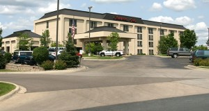 A North Dakota REIT now owns a 25-year-old Hampton Inn at 3000 Eagandale Place in Eagan. (Submitted photo: CoStar)