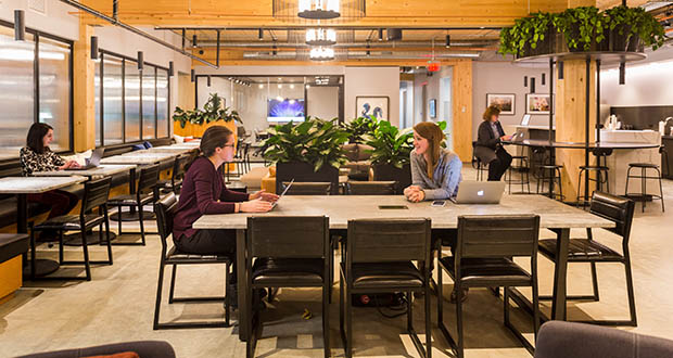 IA Interior Architects has done several projects in Minneapolis, including designing the new Industrious coworking space in the North Loop's T3 building. IA has now opened a new regional office in Minneapolis. (Submitted photo: Industrious)