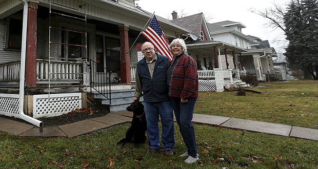 Former Davenport, Iowa, Mayor Ed Winborn and his wife, Sandy, did their own bit of neighborhood revitalization last year when they purchased a home in a neighborhood filled with grand but often empty houses. It was the house that Ed Winborn grew up in during the 1940s and 1950s. The home had deteriorated, similar to many homes in the city's core neighborhoods. The Winborns also bought another home, which they redeveloped into a rental, according to the Quad City Times. (AP photo: Quad City Times)
