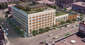 Chicago-based developer CEDARst has bought the former C.J. Duffey Paper Co. buildings at 508, 520 and 528 Washington Ave. N., with plans to convert the upper floors into apartments and the street level into retail. (Submitted image: BKV Group)