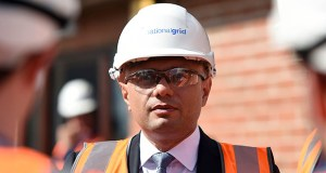 """Britain's Chancellor of the Exchequer Sajid Javid visits the National Grid Training Centre on Friday in Newark, England. Javid conceded that this is a """"challenging"""" period for the global economy, but insisted the fundamentals remained """"strong."""" (AP photo: Joe Giddens/PA)"""