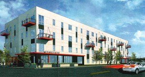The 41-unit Rice Street Flats at 782 to 804 Rice St. in St. Paul will be affordable to renters making 50% and 60% percent or less of the area median income. (Submitted image: BKV)