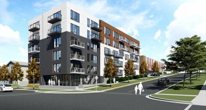 Kraus-Anderson's 590 Park building will add 92 small-footprint apartments in easy walking distance of the State Capitol and multiple hospitals and government offices as well as the Green Line light rail. (Submitted image: Urbanworks Architecture)