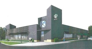 Developer Nick Boosalis plans to build only the first story of a planned, four-story mixed-use building at 4155 Hiawatha Ave. in Minneapolis on the site of a car wash he owns. (Submitted illustration: Andron Architecture)