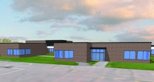 An exterior rendering of the 78,000-square-foot elementary school in Little Canada. (Submitted photo)