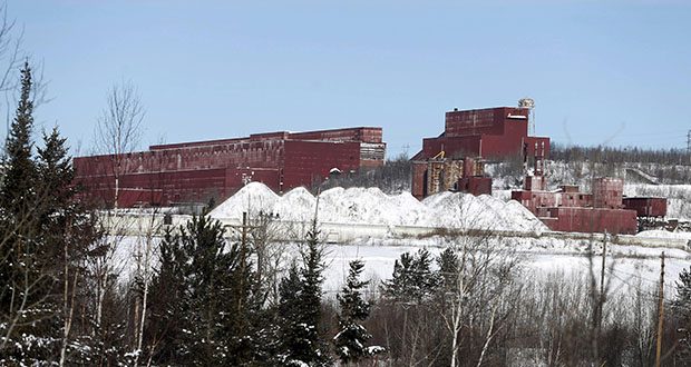 This former LTV Steel processing facility is on the property PolyMet owns near Hoyt Lakes. PolyMet plans to open a copper-nickel mine on its land. (AP file photo)