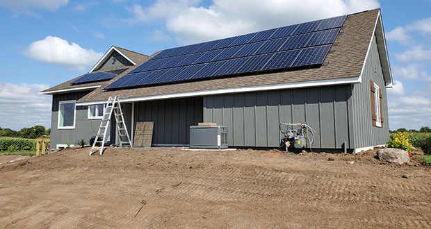 For the first time, a net-zero home was part of this year's Parade of Homes, which ended in late September. Raymond Pruban, owner of Amaris Homes LLC, designed and constructed the home at 2158 Oakgreen Ave. in Afton. It is his second net-zero home. (Submitted photo: Amaris Homes LLC)