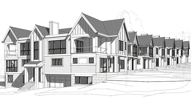 The condos planned for 545 Indian Mound St. E. and 215 Walker Ave S. in Wayzata would have garages that could fit up to four cars each. (Submitted illustration: Whitten Associates Inc.)