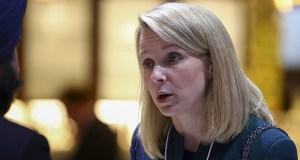 Women who become CEOs are often appointed to companies that are in crisis or are performing poorly, as in the case Marissa Mayer at Yahoo. This Jan. 21 photo shows Mayer inside the Congress Center ahead of the World Economic Forum in Davos, Switzerland. (Bloomberg file photo)