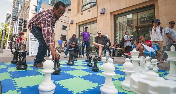 Since it reopened in 2017, Nicollet Mall has seen a variety of community events and festivals, including art fairs and food festivals. (Submitted photo: Kurt Moses Photography/Mpls DID)