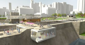 Early concepts for a repurposed Upper St. Anthony Falls Lock in Minneapolis include observation decks and kayak landings built into the concrete walls. (Submitted image: The Falls)