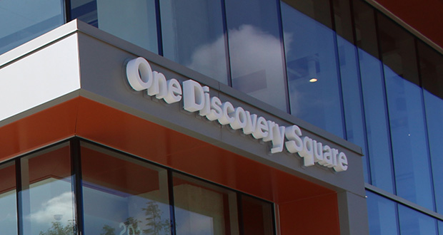 Rochester's One Discovery Square bioscience building is more than 85% leased or spoken for, according to developer Mortenson. The building held its official grand opening in September. (Submitted photo: DMC Corp.)