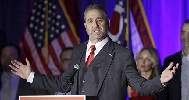 Ohio Attorney General Dave Yost has found a Bitcoin program for tax payments launched by the former state treasurer was illegal. This Nov. 6, 2018, photo shows Yost at an Ohio Republican Party event in Columbus, Ohio. (AP file photo)