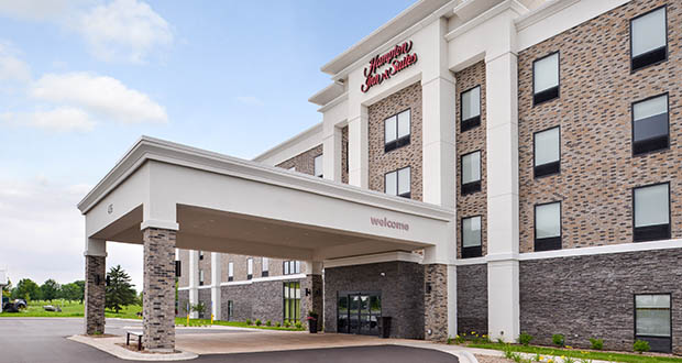 An entity affiliated with the Columbus-area-based Witness Group paid $12.925 million for the 100-room Hampton Inn & Suites at 436 Imperial Ave. N. in Oakdale. (Submitted photo: Hilton)