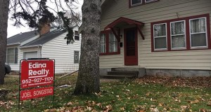 A home at 212 Morgan Ave. S. in Minneapolis on the market for $300,000 is part of an inventory of homes that has shrunk during October. (Staff photo: Matt M. Johnson)