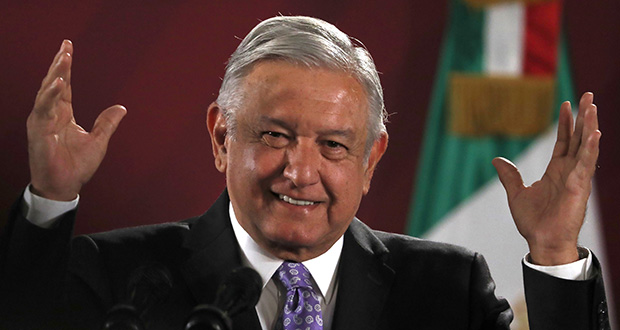Mexican President Andres Manuel Lopez Obrador smiles Nov. 13 during his daily morning press conference at the National Palace in Mexico City.  Lopez Obrador announced an extensive infrastructure plan Tuesday that would help boost the country's GDP. (AP Photo: Marco Ugarte)