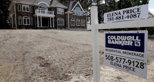 New homes in the Northeast suffered the biggest drop-off in sales last month — a decline of 18.2%. This Sept. 3 photo shows a newly constructed home for sale in Westwood, Massachusetts. (AP file photo)