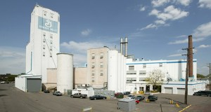 Hillcrest Properties will spend the next few months figuring out a future use for the General Mills Purity Oats mill at 1201 Jackson St. NE in Minneapolis. (Submitted photo: CoStar)