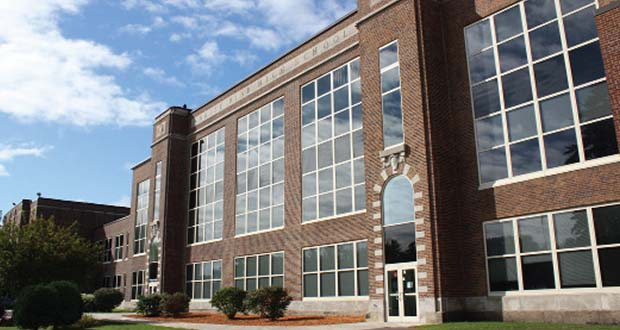 As part of its $326 million building program, the White Bear Lake School District intends to convert the vintage brick building at 4855 Bloom Ave. in White Bear Lake to a middle school. (Submitted photo: White Bear Lake School District)