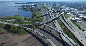 The Minnesota Department of Transportation is facing a $100 million gap for an estimated $442 million project that includes replacing this interchange where Interstate 35 converges with I-535 and Highway 53 in Duluth. (Submitted photo: MnDOT)