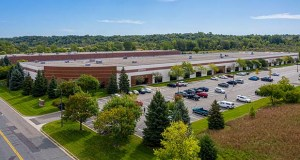The Eagle Creek Commerce Center West building at 8401 Eagle Creek Parkway is one of a pair of adjoining industrial buildings that were part of a $37 million portfolio sale by J.P. Morgan Chase. (Submitted photo: CoStar)