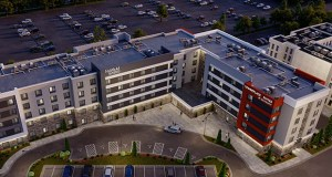 A dual-branded Towne Place Suites and Fairfield Inn and Suites hotel planned for 4931 77th St. W. in Edina will be one of the first new buildings completed at the Pentagon Park redevelopment site. (Submitted illustration: JR Hospitality)