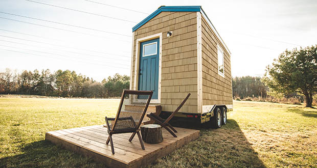 """Nonprofit startup Settled has built a demonstration model for the $20,000 tiny homes it hopes to build in """"sacred settlements"""" to house many of the region's long-term homeless. (Submitted photo: John Swee/Dodge Creative Photography)"""